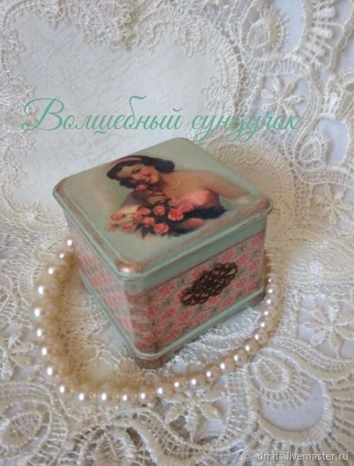 Шкатулка Девушка с розами, Шкатулки, Москва,  Фото №1