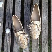 Обувь ручной работы handmade. Livemaster - original item Loafers in Python-SYLVIA. Handmade.
