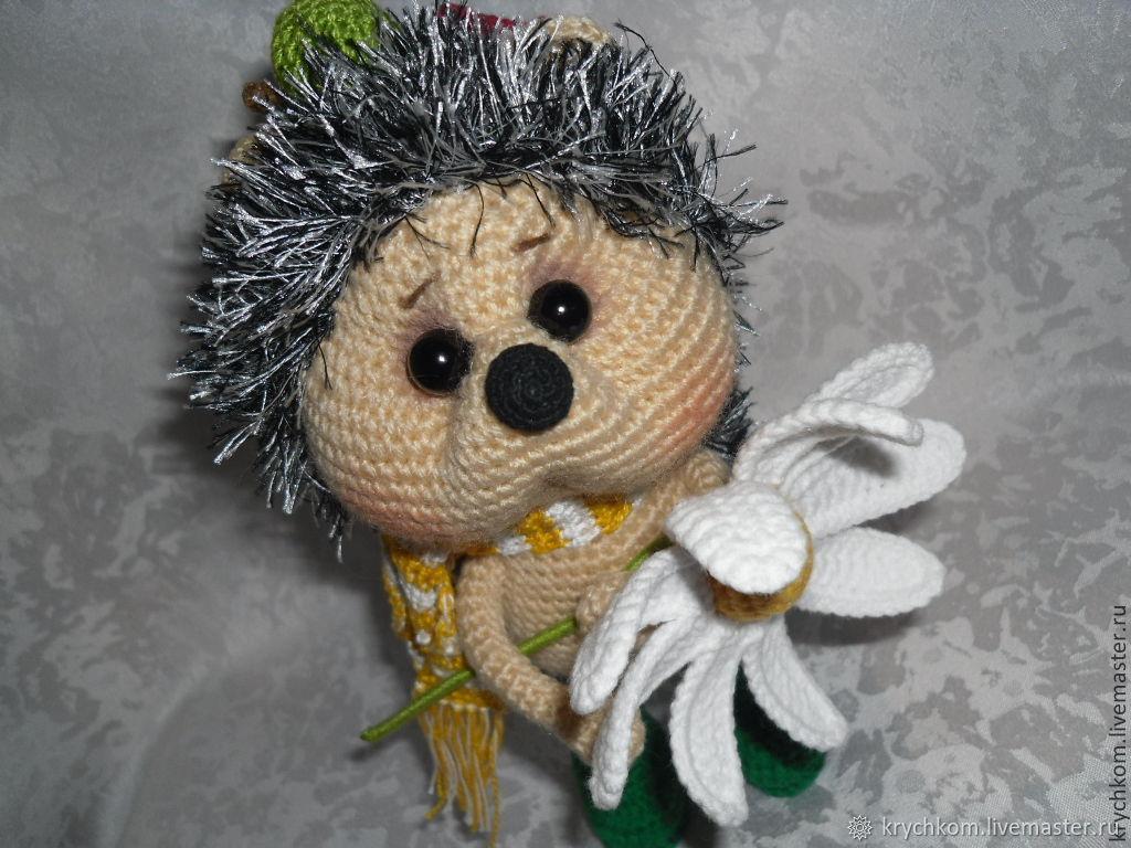 Hedgehog with Camomile, Stuffed Toys, Kamyshin,  Фото №1