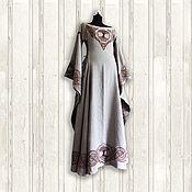 Dresses handmade. Livemaster - original item The goddess Dana, Medieval linen dress. Handmade.
