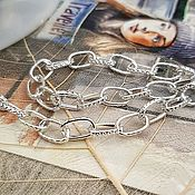 Материалы для творчества handmade. Livemaster - original item Chain for jewelry color SILVER (938-S). Handmade.
