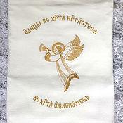 """Работы для детей, ручной работы. Ярмарка Мастеров - ручная работа Пеленка крестильная """" Ангел"""". Handmade."""