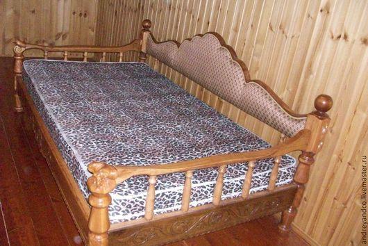 Мебель ручной работы. Ярмарка Мастеров - ручная работа. Купить резная кровать. Handmade. Кровать, коричневый, мебель для дачи