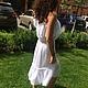 красивое платье в отпуск платье платье для девушки красивое платье в цветочек платье на выход платье торжественное платье крестьянка платье из вискозы платье дизайнерское платье стильное белый