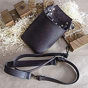 Аксессуары handmade. Livemaster - original item Leather bag for hairdresser bag leather. Handmade.