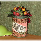 Сувениры и подарки ручной работы. Ярмарка Мастеров - ручная работа копилка для монет Фруктовое изобилие. Handmade.