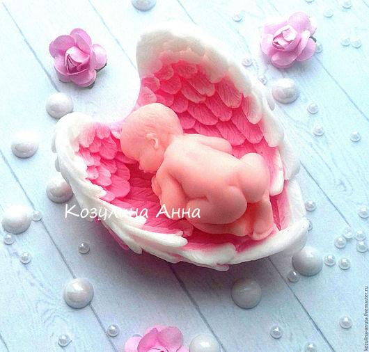 мыло малыш в крыльях,мыло младенец,мыло малыш,малыш на крыльях,малыш в крыльях ,на рождение малыша