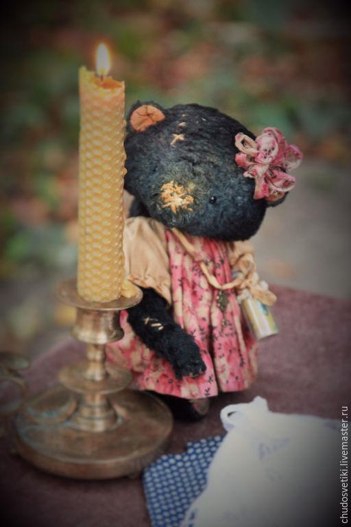 """Мишки Тедди ручной работы. Ярмарка Мастеров - ручная работа. Купить мишка тедди """"Вкус ежевичного чая... И много. Много счастья...."""". Handmade."""