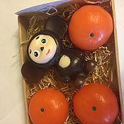 """Мыло ручной работы. Ярмарка Мастеров - ручная работа Набор """" мандаринки с сюрпризом"""" маленький. Handmade."""