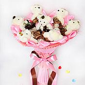 """Цветы и флористика ручной работы. Ярмарка Мастеров - ручная работа Букет из игрушек 7 мишек """"Rose 7"""". Handmade."""