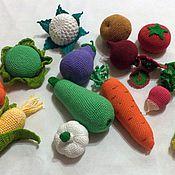 Кукольная еда ручной работы. Ярмарка Мастеров - ручная работа Вязаные  крючком овощи фрукты развивающие игрушки. Handmade.