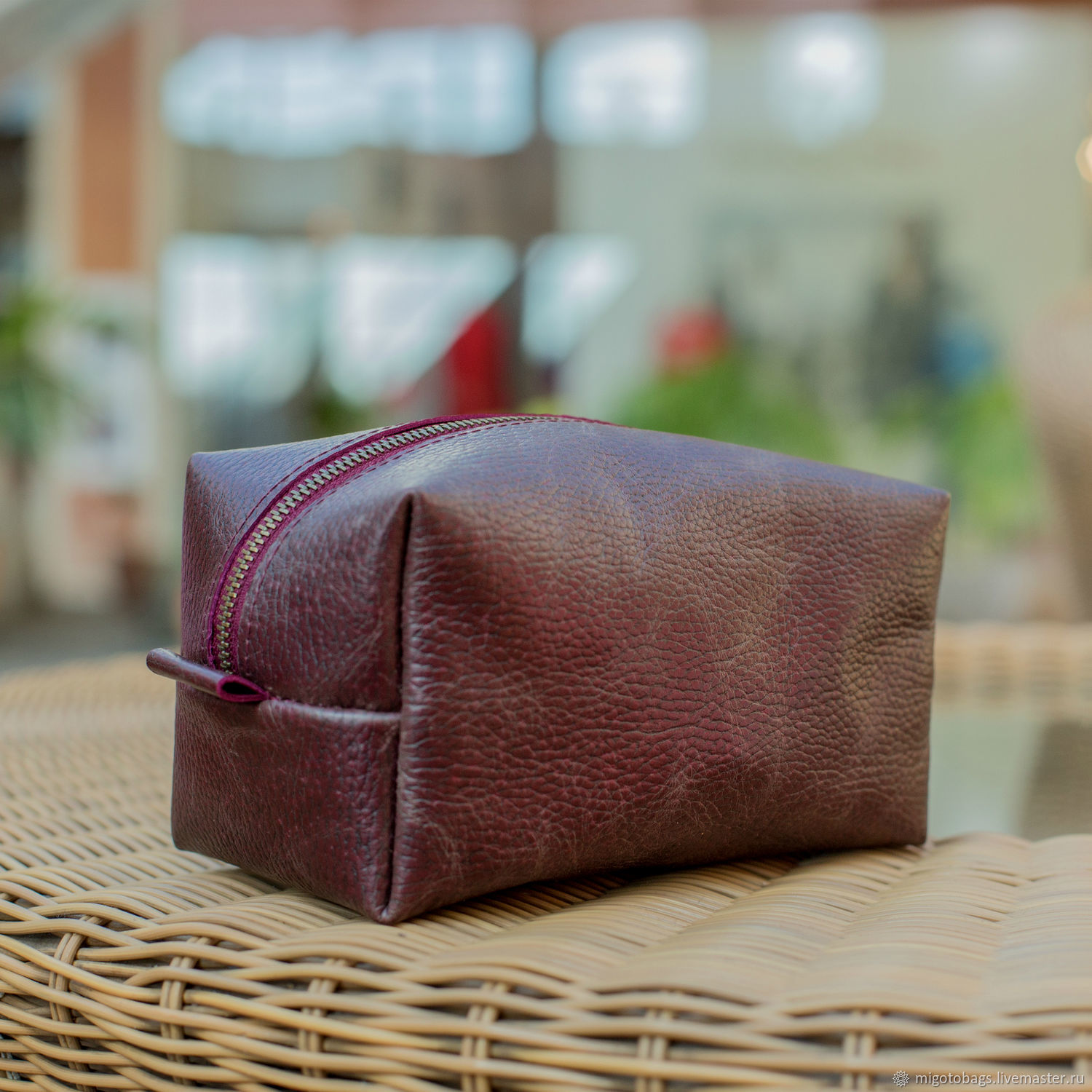 Handbags handmade. Livemaster - handmade. Buy Cosmetic bag leather (cosmetic bag made of genuine leather).Zipper