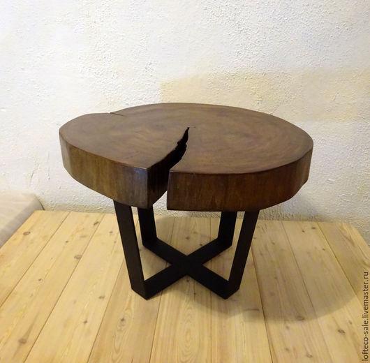 Мебель ручной работы. Ярмарка Мастеров - ручная работа. Купить Стол из спила Липы / Лофт Эко мебель. Handmade.