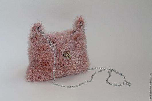 Женские сумки ручной работы. Ярмарка Мастеров - ручная работа. Купить Сумочка Розовый вечер. Handmade. Бледно-розовый