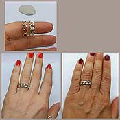 Украшения handmade. Livemaster - original item Ring Chain. Fashionable ring. the ring as a gift. 925 sterling silver. Handmade.