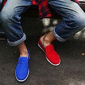 Обувь ручной работы. Ярмарка Мастеров - ручная работа Текстильные слипоны 51-411/328 (GL). Handmade.