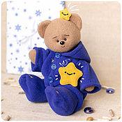 Куклы и игрушки handmade. Livemaster - original item The Blue Sleepy Teddy Bear. Handmade.