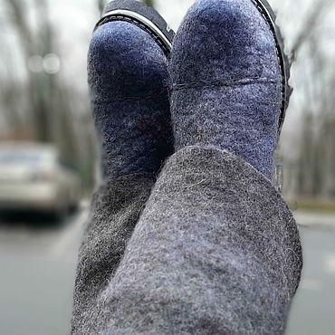 Обувь ручной работы. Ярмарка Мастеров - ручная работа Сапоги валяные для подруги. Handmade.