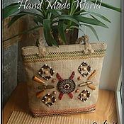 Сумки и аксессуары handmade. Livemaster - original item Bag of burlap