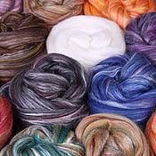 Материалы для творчества handmade. Livemaster - original item blend of Merino/silk. Handmade.