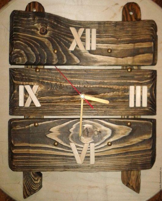 """Часы для дома ручной работы. Ярмарка Мастеров - ручная работа. Купить Деревянные часы """"Кантри style"""". Handmade."""