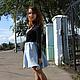 """Юбки ручной работы. Валяная юбка """"Серебро"""". Ирина Аллаярова. Ярмарка Мастеров. Короткая юбка, модная юбка, серебристый"""