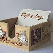 Для дома и интерьера ручной работы. Ярмарка Мастеров - ручная работа Коробочка для рецептов с блокнотом (набор). Handmade.