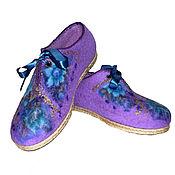 """Обувь ручной работы. Ярмарка Мастеров - ручная работа Женские валяные туфли """"Цветы"""". Handmade."""
