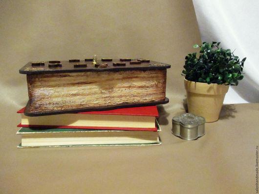 Часы для дома ручной работы. Ярмарка Мастеров - ручная работа. Купить Старинная книга. Handmade. Коричневый, книга, краски акриловые