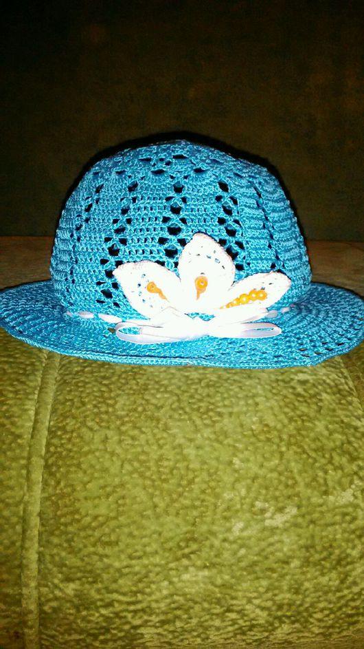 Шляпы ручной работы. Ярмарка Мастеров - ручная работа. Купить Шляпка для девочки от 2-5 лет,выполненная крючком.. Handmade.