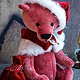 Мишки Тедди ручной работы. Ярмарка Мастеров - ручная работа. Купить Тедди мишка Christmas Bear. Handmade. Коралловый