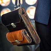 Сумки и аксессуары handmade. Livemaster - original item Leather and wood 2in1 Triangle backpack bag. Handmade.