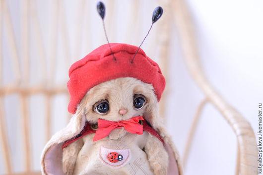 Мишки Тедди ручной работы. Ярмарка Мастеров - ручная работа. Купить Зайчик Жужик (Божья коровка). Handmade. Разноцветный, подарок