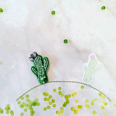 Украшения ручной работы. Ярмарка Мастеров - ручная работа Кактус. Handmade.
