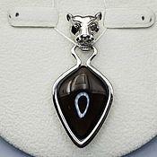 Украшения handmade. Livemaster - original item Silver pendant with 28h18 mm rauchtopaz. Handmade.