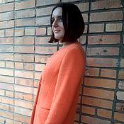 Пальто ручной работы. Ярмарка Мастеров - ручная работа Пальто из итальянской буклированной шерсти оранжевого цвета. Handmade.