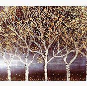 Картины и панно handmade. Livemaster - original item Golden trees. Handmade.
