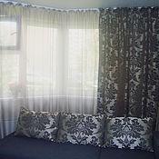 Для дома и интерьера ручной работы. Ярмарка Мастеров - ручная работа Комплект портьер и подушек Дамаск. Handmade.