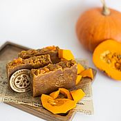 Косметика ручной работы handmade. Livemaster - original item Handmade Soap Spicy Pumpkin Natural Autumn Red. Handmade.