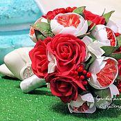 """Свадебные букеты ручной работы. Ярмарка Мастеров - ручная работа Свадебный букет невесты """"Красные розы"""". Handmade."""