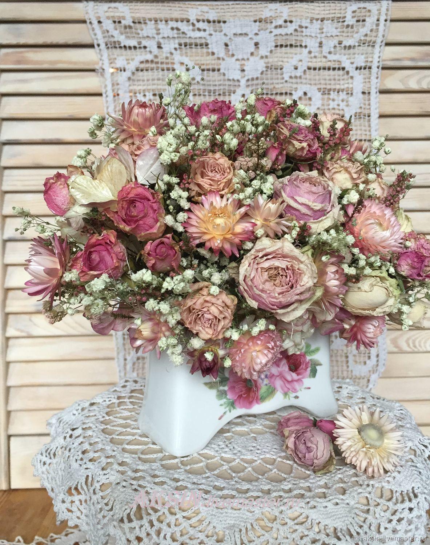 Букет роз в стиле шебби, Композиции, Котельники,  Фото №1