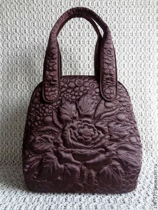 Женские сумки ручной работы. Ярмарка Мастеров - ручная работа. Купить сумочка   Шоколадная роза .. Handmade. Коричневый, дамская сумка