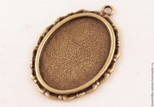 Для украшений ручной работы. Ярмарка Мастеров - ручная работа. Купить Оправа Бронзовая лента 18х25мм, античная бронза (1шт). Handmade.