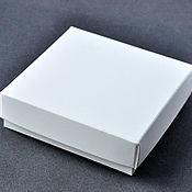 Материалы для творчества ручной работы. Ярмарка Мастеров - ручная работа Коробка 9х9х2,5см крышка-дно, белая. Handmade.