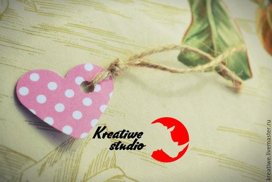 """Упаковка ручной работы. Ярмарка Мастеров - ручная работа. Купить Бирка в форме сердца ручной работы """"Ретро в розовых очках!"""". Handmade."""