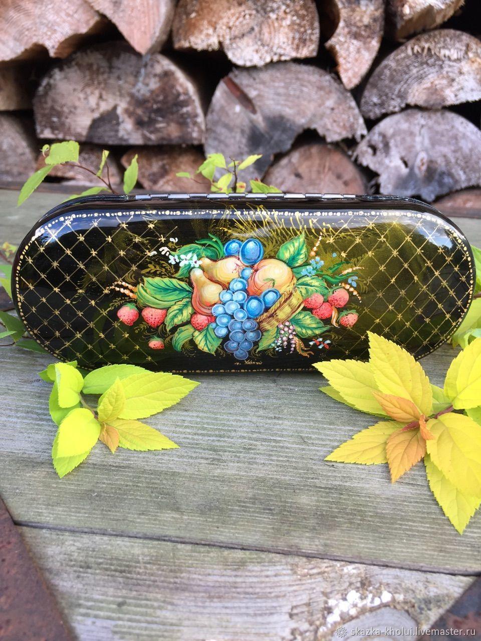Autumn .Eyeglass case lacquer miniature, Eyeglass case, Yuzha,  Фото №1