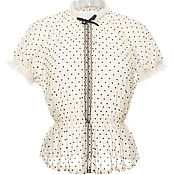 Одежда ручной работы. Ярмарка Мастеров - ручная работа Блуза из фатина в горошек. Handmade.