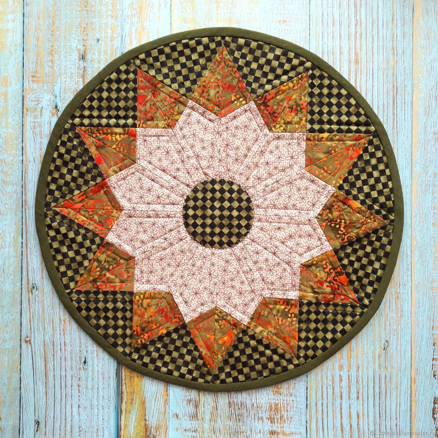 Round patchwork napkin ' Fairy forest', Doilies, Moscow,  Фото №1