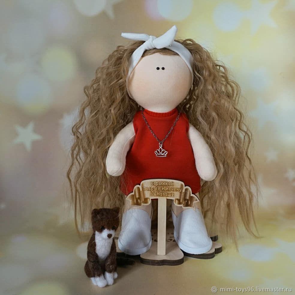Портретная кукла с кошечкой, Куклы и пупсы, Верхняя Пышма,  Фото №1