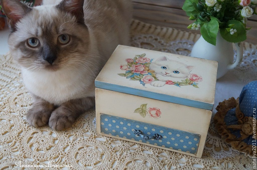 'White kitten'-a mini-chest of drawers, Mini Dressers, Moscow,  Фото №1
